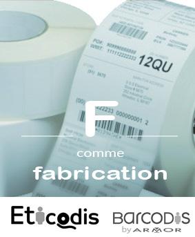 Fabrication d'étiquettes adhésive en rouleaux