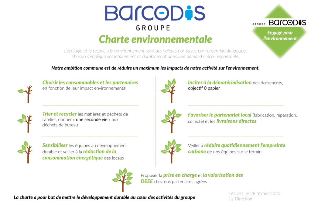 Charte environnementale groupe barcodis